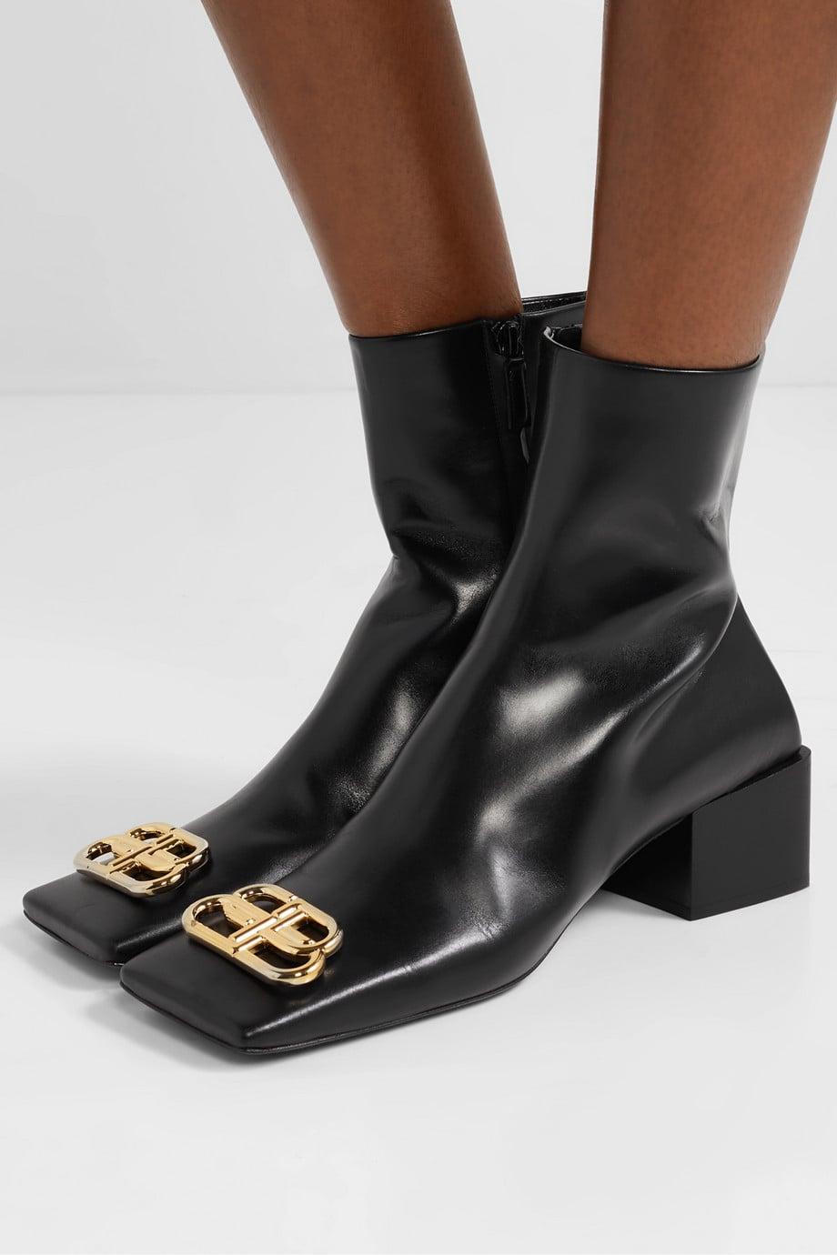 Balenciaga Embellished Leather Ankle