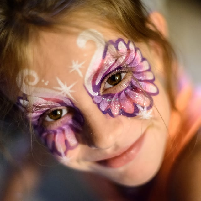 halloween face paint tips popsugar family