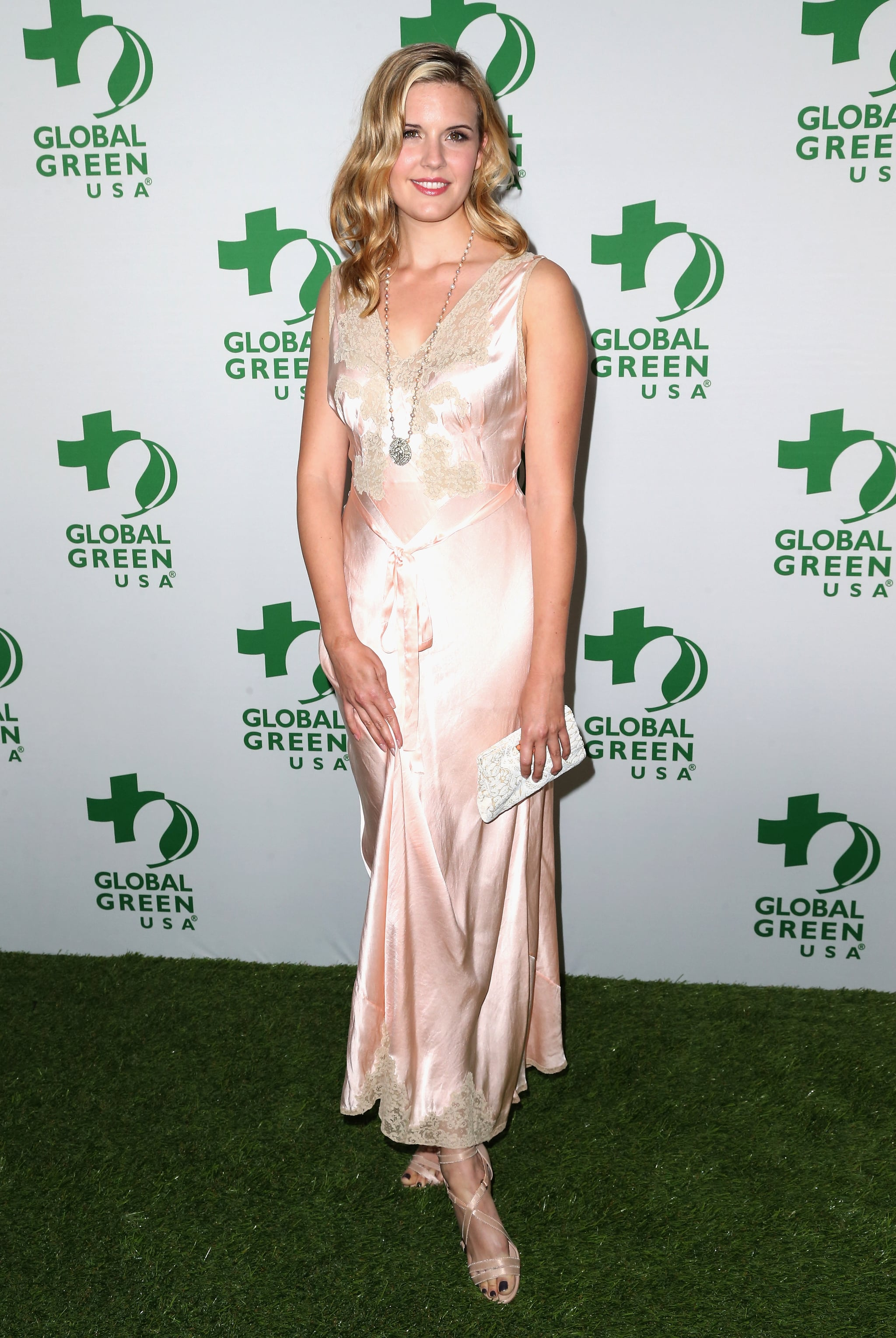 Maggie Grace at Global Green USA's Annual Oscar Party.