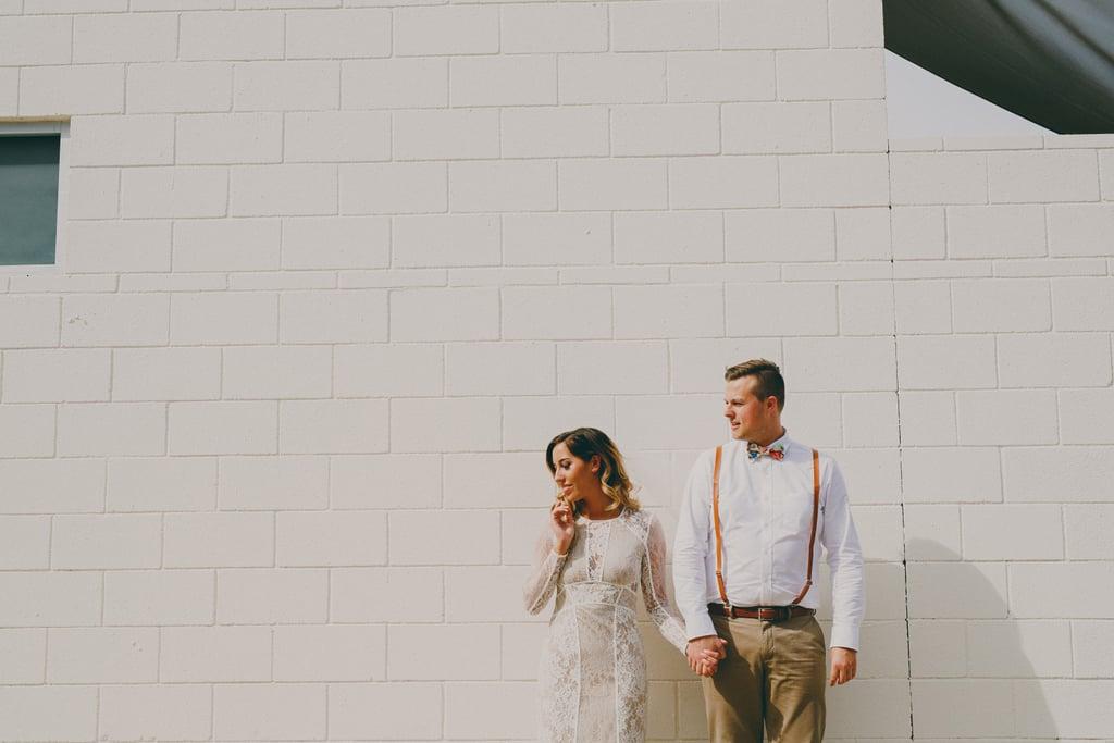 Trendy Palm Springs Wedding