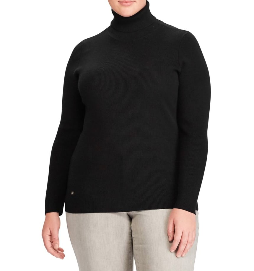 Lauren Ralph Lauren Plus Stretch Ribbed Turtleneck Sweater ($37, originally $75)