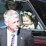 Princess Charlotte Sticking Her Tongue Out at the Royal Wedding in 2018