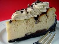 Bailey's Irish Cream Chocolate Chip Cheesecake