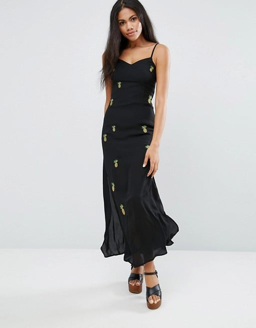 Maxi dresses are a great staple to have in your closet.  Liqurosh Cami Maxi Dress With Embroidered Pineapples ($60)