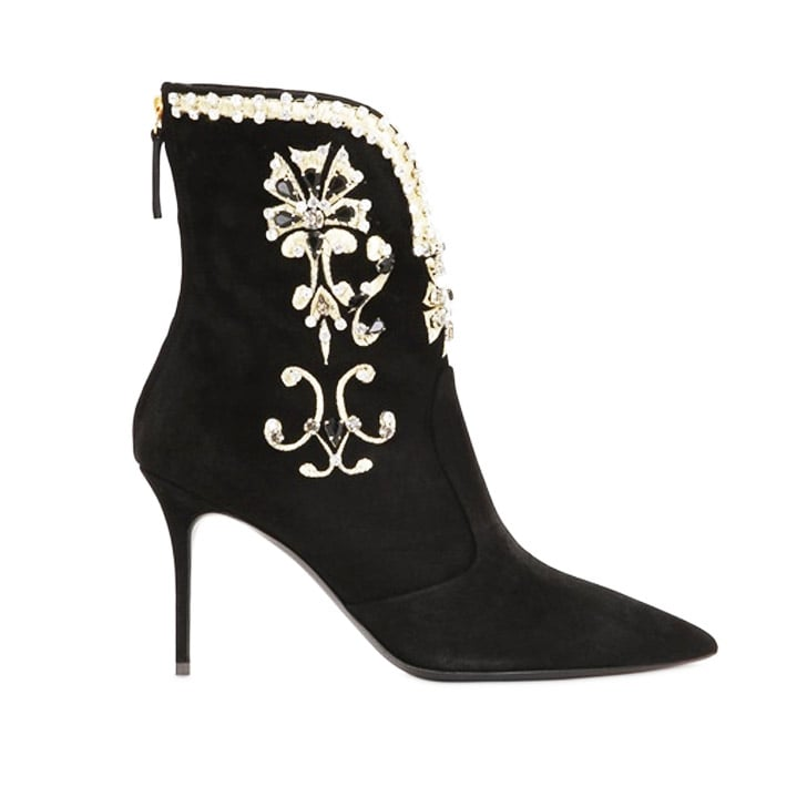 Giuseppe Zanotti Swarovski Suede Ankle Boots ($2,325)