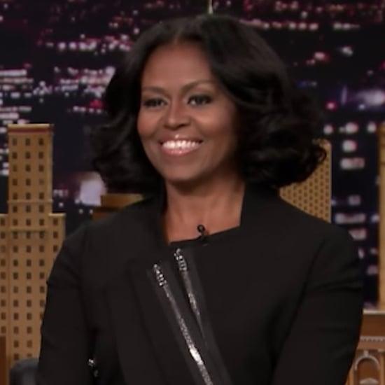 Michelle Obama Writes Thank-You Notes on Tonight Show 2017