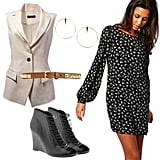 Sleeveless Jacket + Shift Dress
