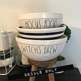 Halloween Bowl Decals