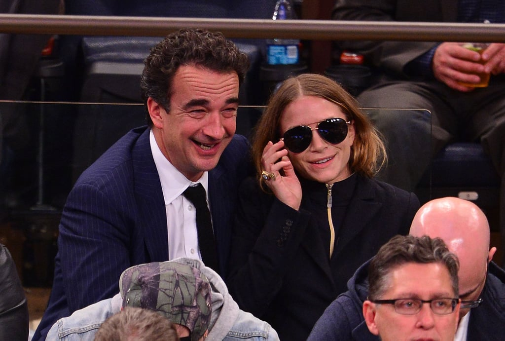 Olivier and Mary-Kate attended a New York Knicks game in 2014, and she was, sure enough, modeling the go-to shape.