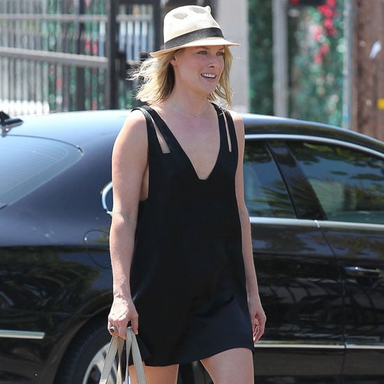 Ali Larter Wearing a Black Cutout Dress