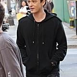 Photos of Justin Timberlake on the Set of The Social Network