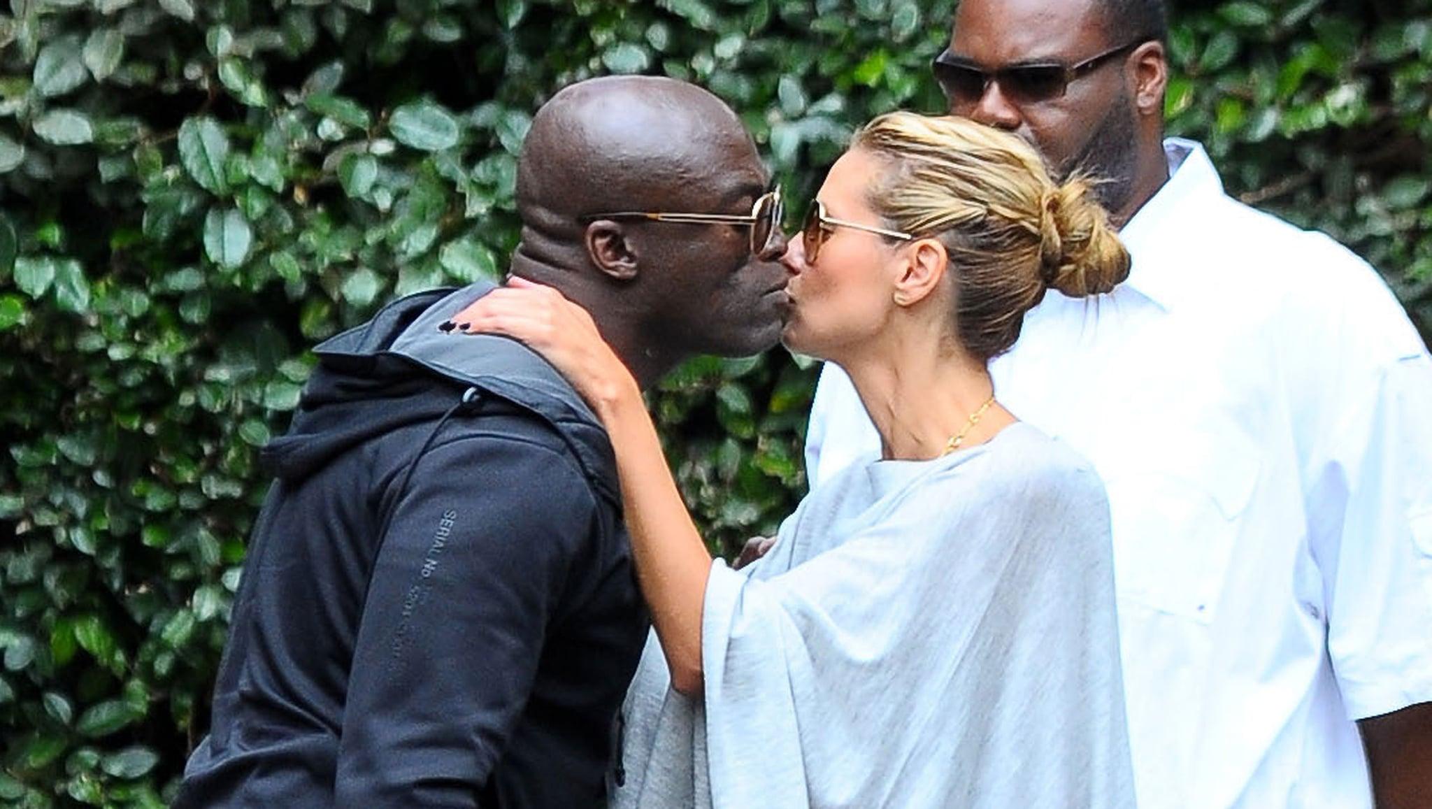 Friendly Exes Heidi Klum and Seal Share a Sweet Kiss