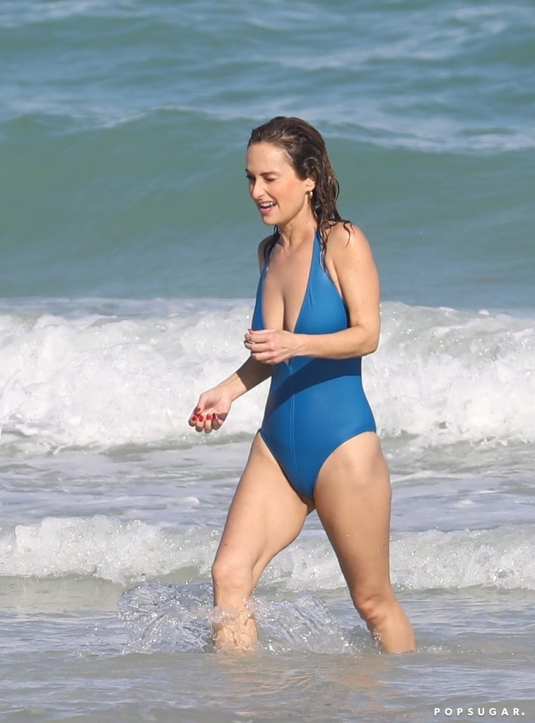 Giada De Laurentiis Sizzles in a Plunging Swimsuit During a Fun Miami Beach Day
