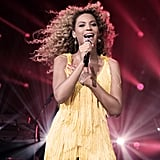 Beyoncé Knowles had Jay-Z and her mother, Tina Knowles, in the front row at her Beyonce in 4D With Belvedere performance.