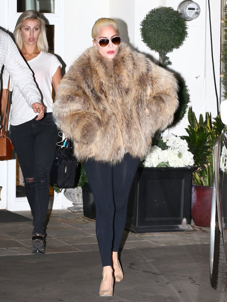 "Lady Gaga clearly wanted all eyes on her when she stepped out in LA on Tuesday afternoon. Clad in a fur jacket, leggings, and heels, the Joanne singer looked fierce as hell as she exited a building and made her way back to her car. Gaga's latest appearance comes just a week after she grabbed headlines for protesting outside of Trump Tower following Donald Trump's presidential win. Throughout the election, Gaga was an avid Hillary Clinton supporter, and she proved she was #StillWithHer by standing on a large truck and holding a sign that read, ""Love trumps hate."" Gaga was just one of the many stars who reacted to Trump winning the election.       Related:                                                                                                           18 Lady Gaga Quotes Worthy of an Applause"
