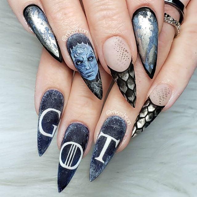 Game of Thrones Nail Art | POPSUGAR Beauty