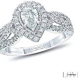Vera Wang 18ct White Gold Diamond Pear Halo Ring