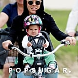 Pink rode around LA with daughter Willow.