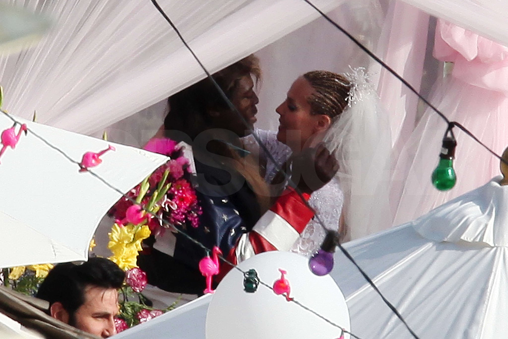 Heidi and Seal Throw a Malibu White Trash Wedding