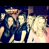 It was a girls' night out for Rachel Gilbert, Michelle Leslie, Laura Csortan and Sophie Falkiner. Source: Instagram user lauracsortan
