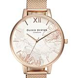 Oliva Burton Abstract Florals Mesh Bracelet Watch