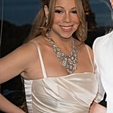 Mariah Carey wore a beautiful diamond necklace.
