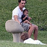 Pictures of Matthew McConaughey With Levi and Vida