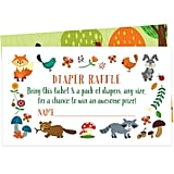 Woodland Creatures Diaper Raffle Tickets