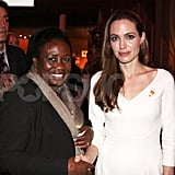 Angelina Jolie paused for photographs.