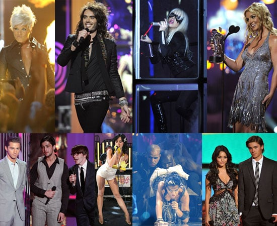 List Of The Winners and Photos From The 2008 MTV Video Music Awards ( VMAs ) Feat Britney Spears, Russell Brand, Pink etc