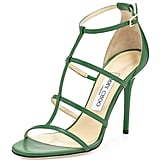 Jimmy Choo Dory Caged Leather Sandal ($695)
