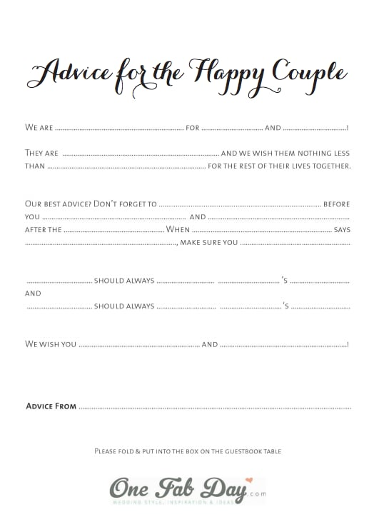 graphic relating to Printable Mad Libs for Adults Pdf named Totally free Printable Wedding day Ridiculous Libs POPSUGAR Sensible Dwelling