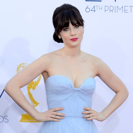 Picture of Zooey Deschanel's Hair and Makeup at the 2012 Emmy Awards