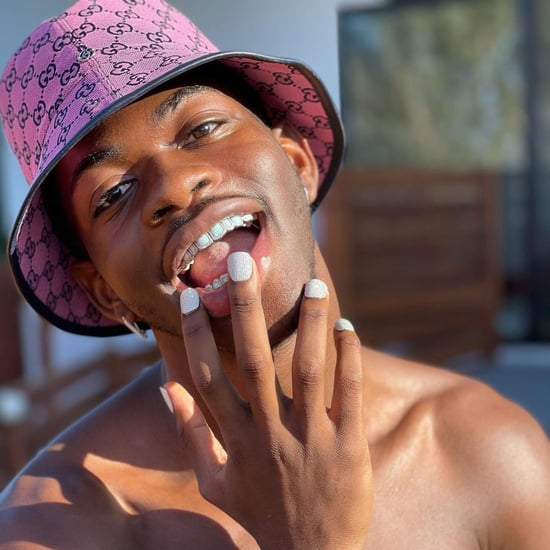 Lil Nas X Diamond Manicure and Matching Grillz For Birthday