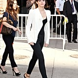 Emma Watson made an appearance on the Late Show in NYC.