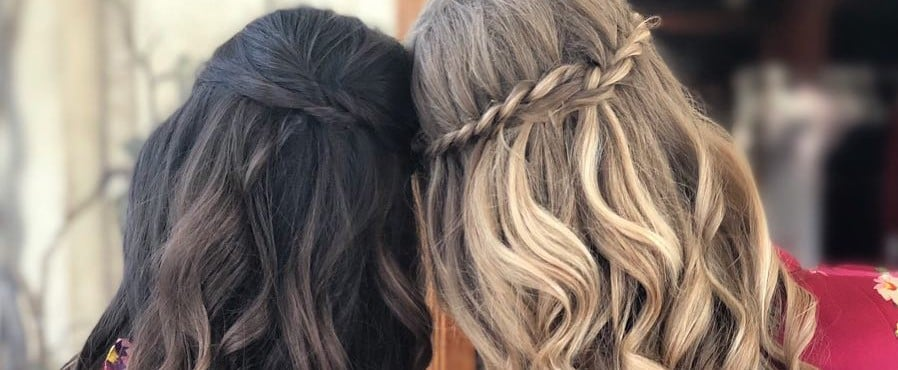 Half-Up Plaited Hairstyles