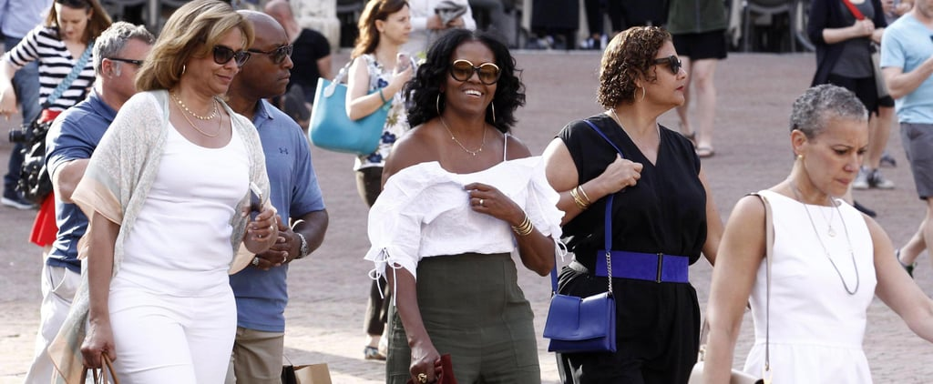 Michelle Obama Styled Her Vacation Ensemble With This Chic Mini Tote Bag