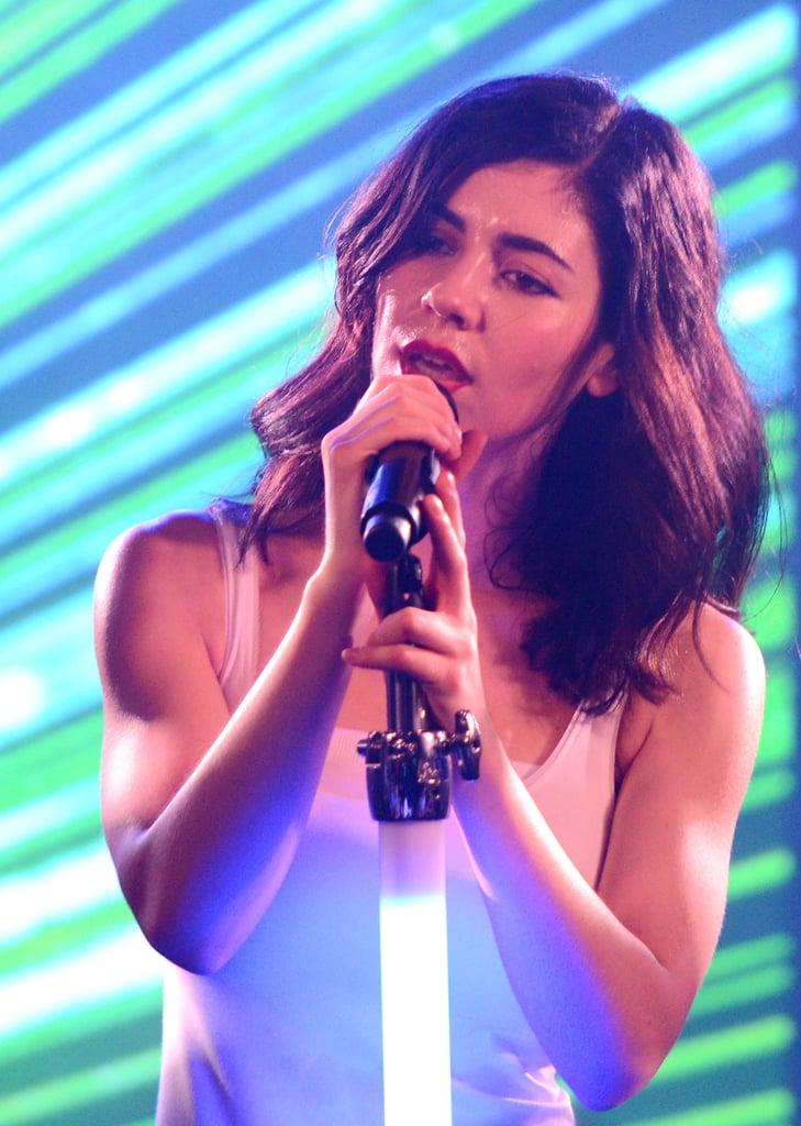 Marina's Stage-Ready Red Lipstick