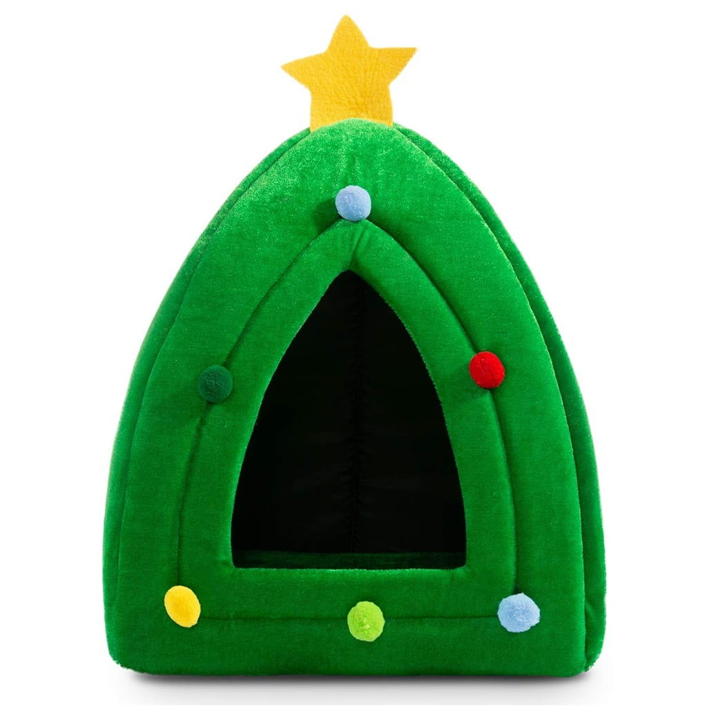 Hollypet Self-Warming 2-in-1 Cat Bed — Christmas Tree