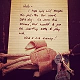 """We found this at our door when we got home tonight . . . Nicest thing ever!"""