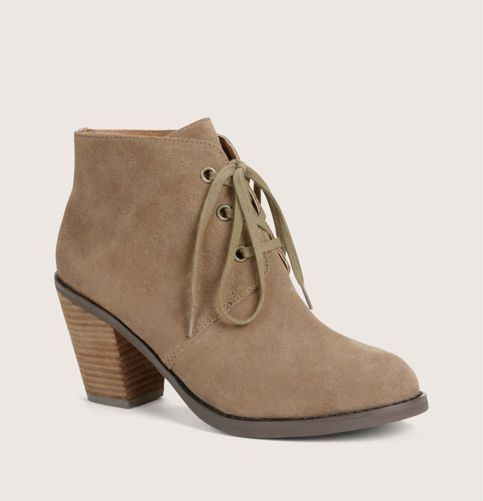 Loft Suede Lace-Up Booties