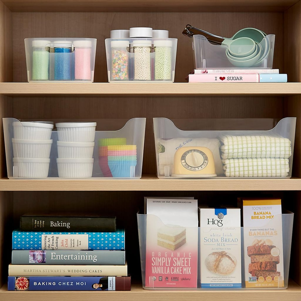 6 Tips For A Kitchen You Can Love For A Lifetime: Clear Plastic Storage Bins With Handles