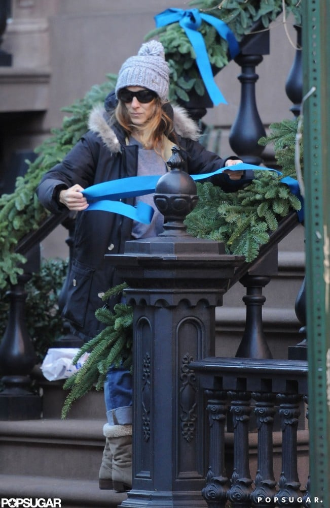 Sarah Jessica Parker prepared her house for the holidays.
