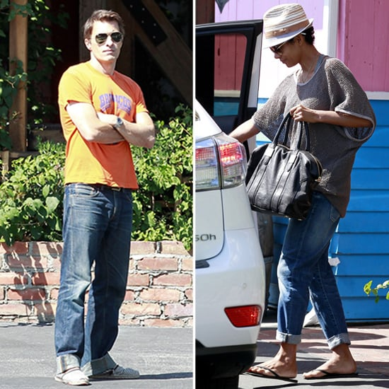 Halle Berry and Olivier Martinez Eat at Pink Taco   Pictures