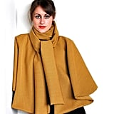 Mustard Yellow Cape With Tie ($140)