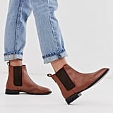 ASOS Design April Leather Chelsea Boots