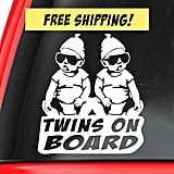 Twins on Board Car Decal
