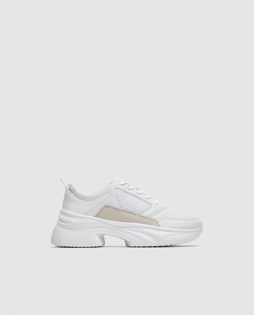 Zara Chunky Sole Sneakers Sneaker Trends Spring 2018 Popsugar