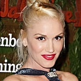 Never one to stick to a traditional hairstyle, Gwen Stefani added a side twist to her topknot at the Salvatore Ferragamo event.
