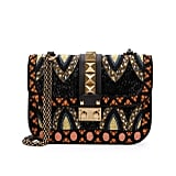 Valentino Small Beaded Leather Shoulder Bag ($4,245)